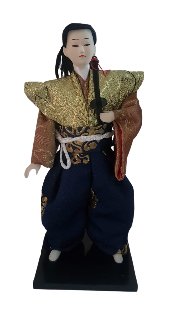 Boneco Samurai Oriental Japonês Modelo 8 KL