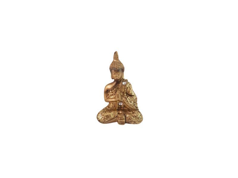 Buda Sidarta Gautama Dourado Resina 9 cm KL