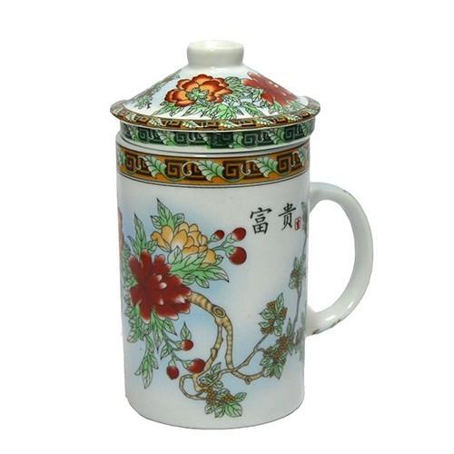 Caneca Para Chá Com Infusor Oriental 350ML