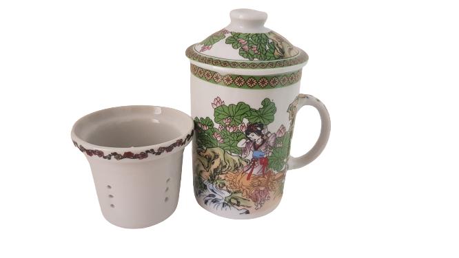 Caneca Para Chá Com Infusor Oriental Modelo 1 KL
