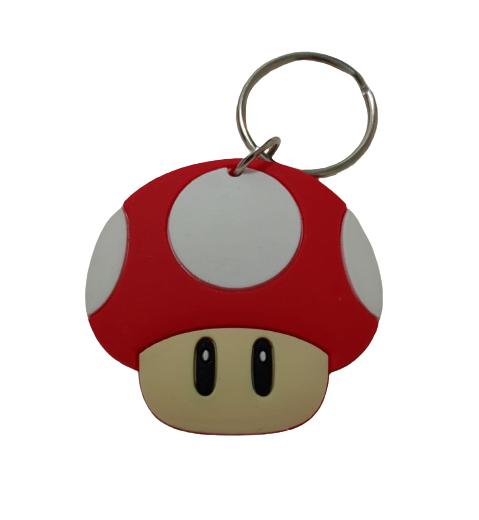 Chaveiro de Borracha Toad Mario Bros KL