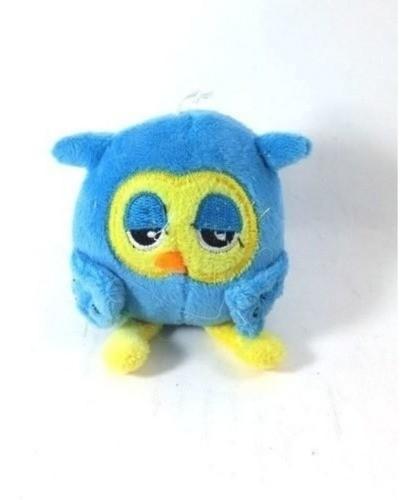 Chaveiro Pelúcia Coruja Azul