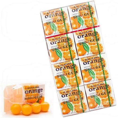 Chiclete Marukawa Sabor Laranja - Bubble Gum Orange 8 unidades