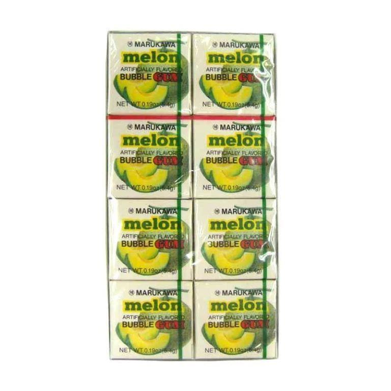 Chiclete Marukawa Sabor Melão - Bubble Gum Melon 8 unidades