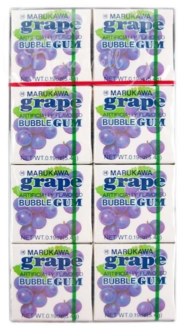 Chiclete Marukawa Sabor Uva - Bubble Gum Grape 8 unidades