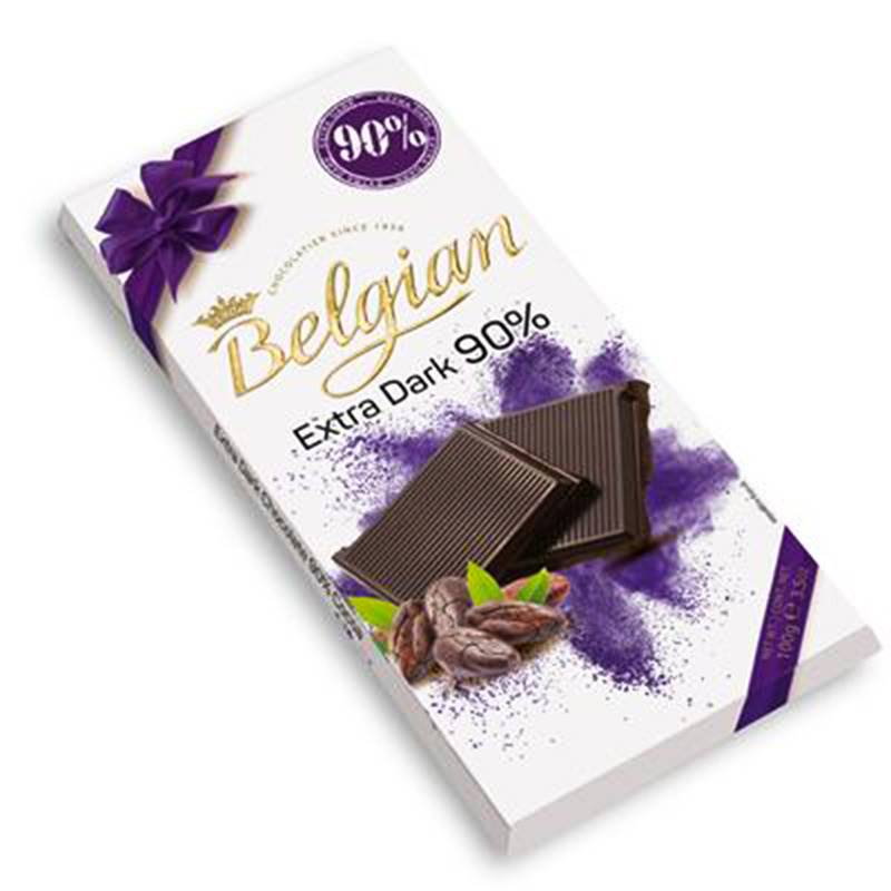 Chocolate Belgian em Barra Extra Dark 90% Cacau 100g