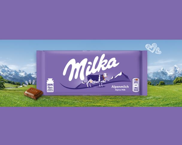 Chocolate Milka Alpenmilch Alpine Milk 100g