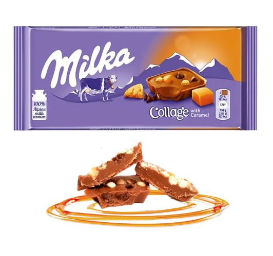 Chocolate Milka Collage with Caramel 93g