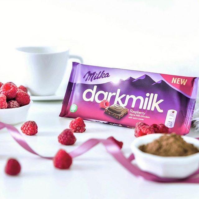 Chocolate Milka Darkmilk Sabor Framboesa Raspberry 85g