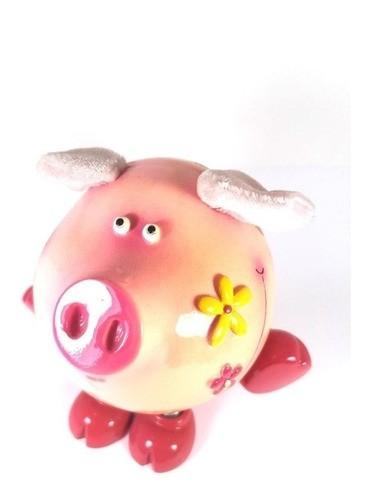 Cofre Enfeite Porquinho Resina 13cm
