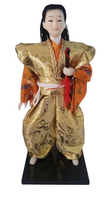 Boneco Samurai Oriental Japonês Modelo 6 KL