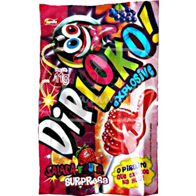 Pirulito Explosivo Diploko Salada de Frutas 1 Unidade