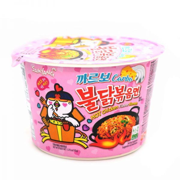 Cup Noodle Coreano Samyang Big Bowl Hot Chicken Sabor Carbonara 179g
