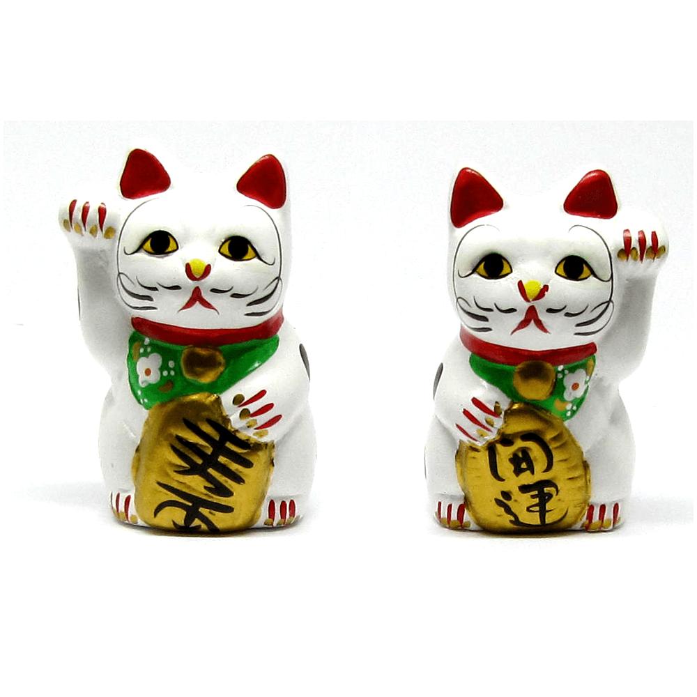 Dupla De Gato Da Sorte Maneki Neko C10 - 10cm - Kl