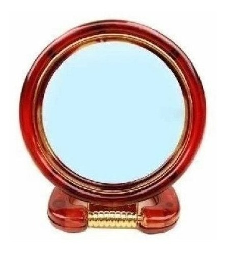 Espelho De Aumento 3x Dupla Face Plástico Pequeno (marrom)