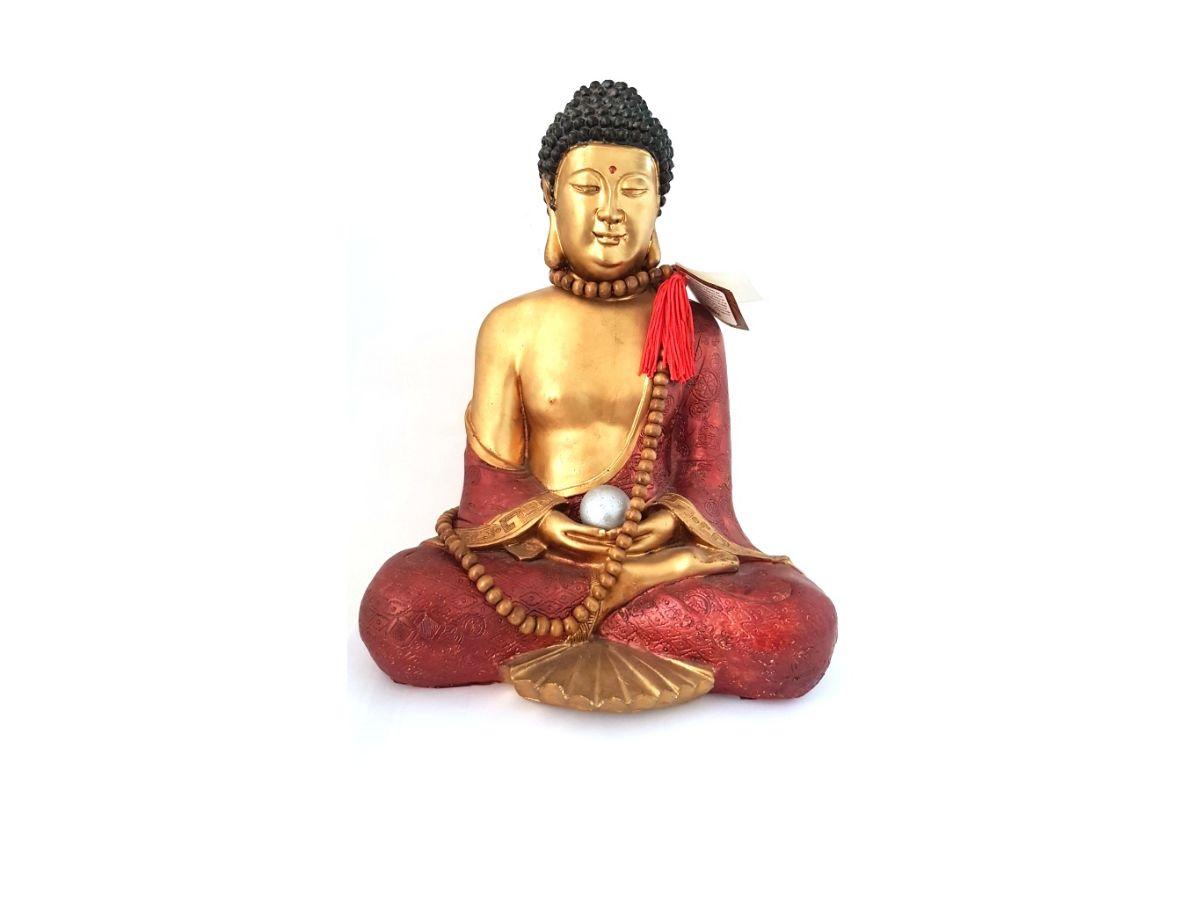 Estátua Buda Shakyamuni (Siddharta) Resina 30cm KL