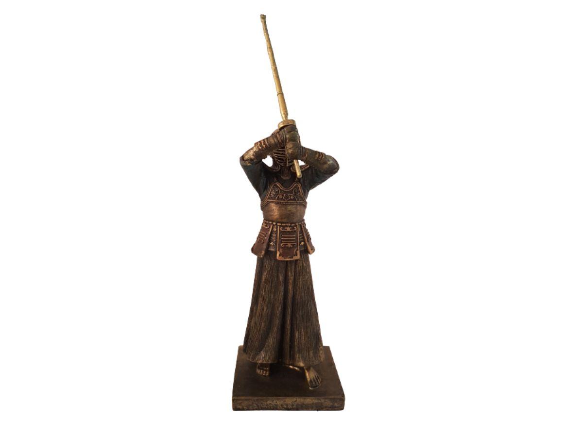 Estatua De Resina Samurai Guerreiro 30cm KL