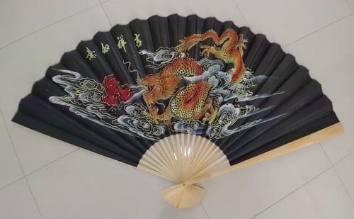 Leque De Parede Oriental Dragão - KL