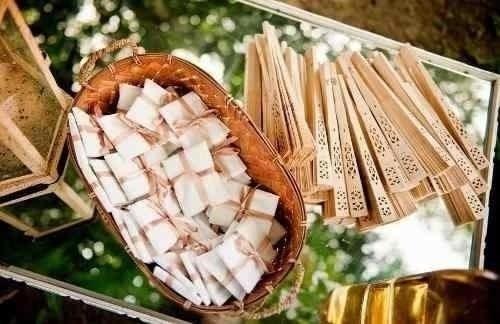 Leques De Madeira Lembrancinha Para Casamento 100 Peças