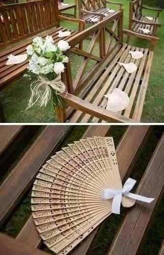Leques De Madeira Lembrancinhas De Casamento 50 Peças