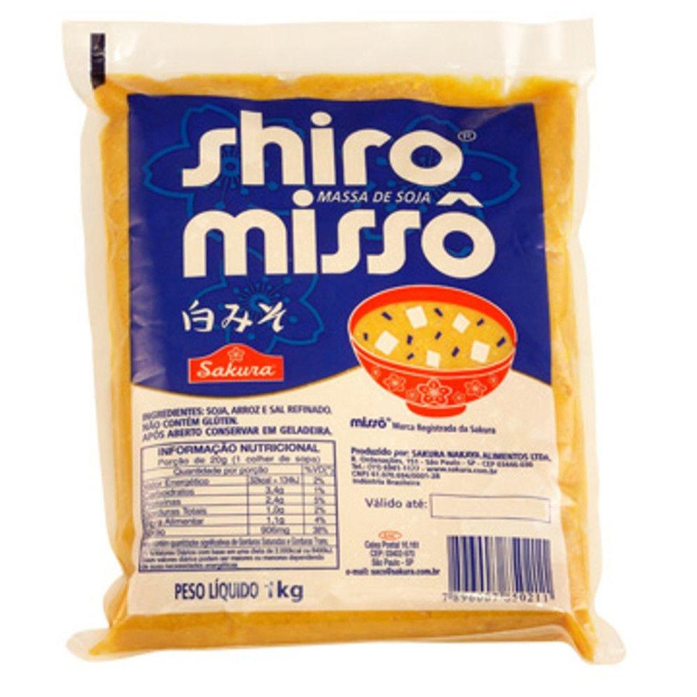 Massa de Soja Missô Sakura Branco 1 kg