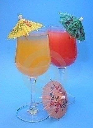 Mini Guarda Chuva Para Bebida Drink Enfeite 30 Peças
