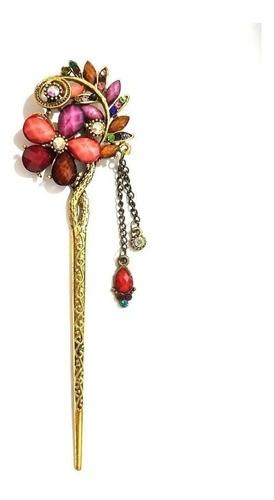 Palito Hashi Para Cabelo Flor Metal - Modelo 21