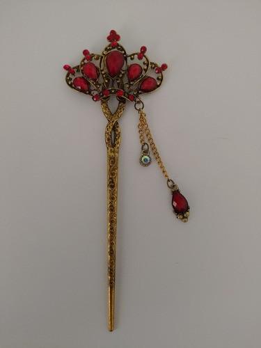 Palito Hashi Para Cabelo Flor Metal - Modelo 48