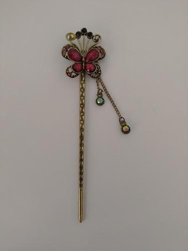 Palito Hashi Para Cabelo Flor Metal - Modelo 50