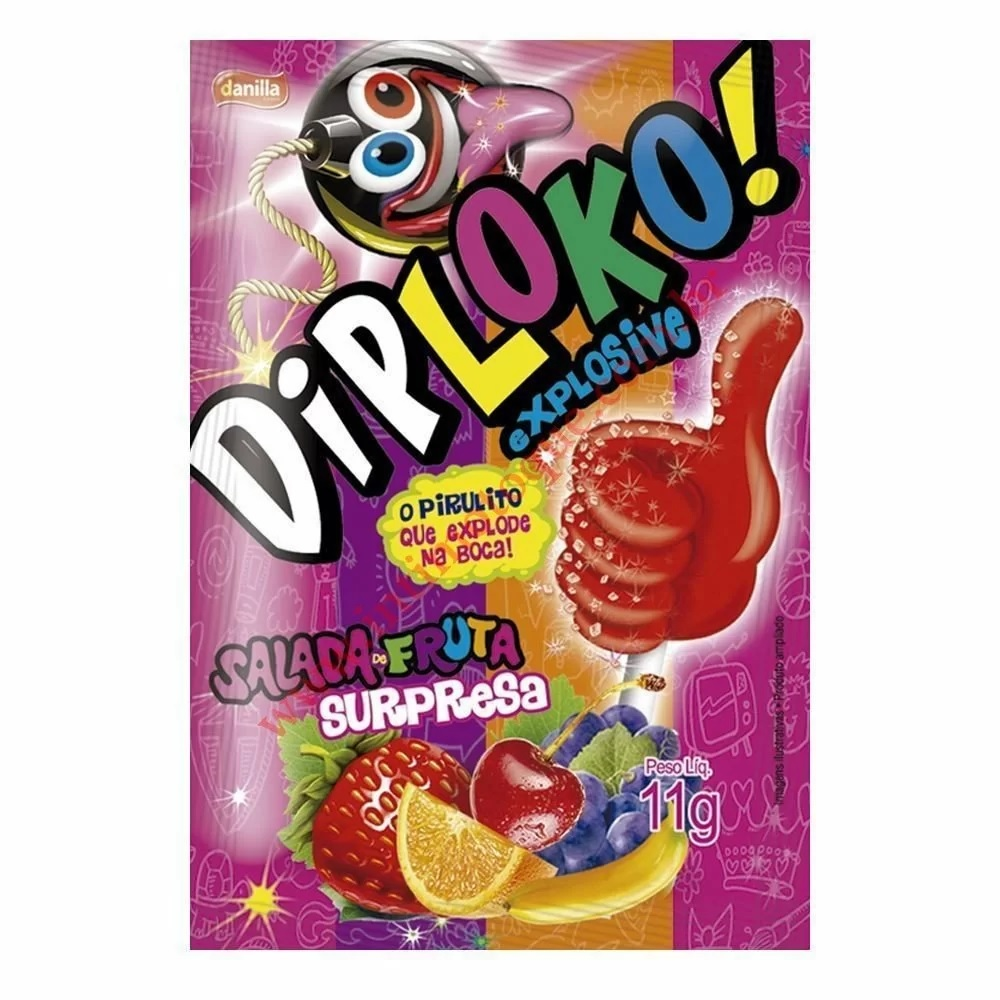 Pirulito Explosivo Diploko Salada de Frutas