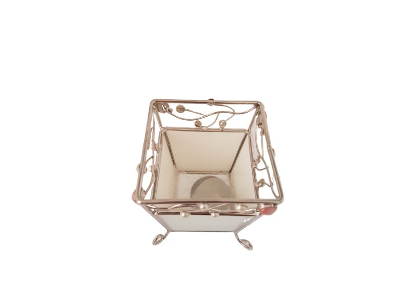 Porta Vela Metal 10cm