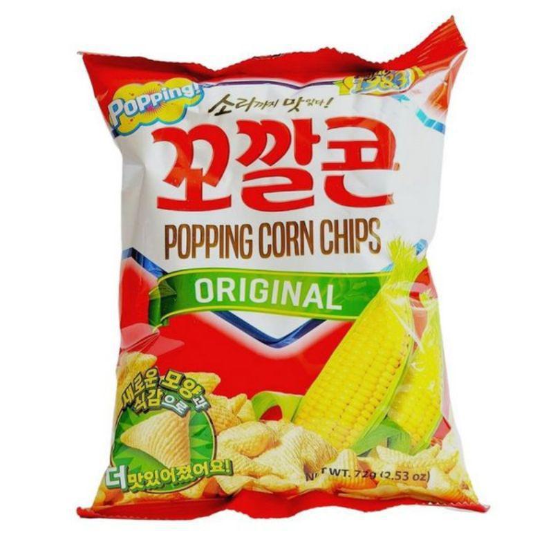 Salgadinho de milho 72g popping corn chips - Lotte