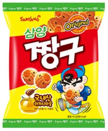 Samyang Chang Gu Honey - Salgadinho Mel & Gergelim