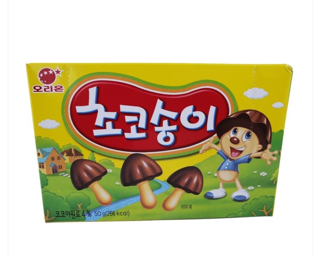 Zangle Biscoitos em forma de Cogumelo de Chocolate - Orion 50g