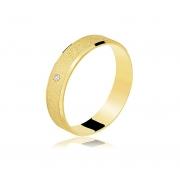 Aliança Casamento de Ouro 18k Diamantada (4.5mm)