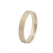 Aliança de Casamento em Ouro 18k Diamantada (3.4mm)