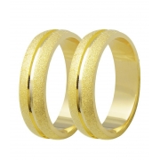 Aliança de Casamento Etoile em Ouro 18k Diamantada (5mm)