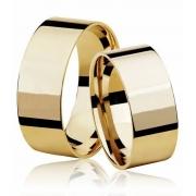 Aliança de Casamento  Larga Ouro 18k  (7mm)