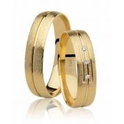 Aliança de Casamento Oui I Ouro Amarelo 18k  (4.75mm)