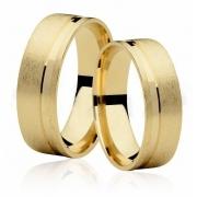 Aliança de Casamento Ouro 18k Anatômica EMOTION VI (7mm)