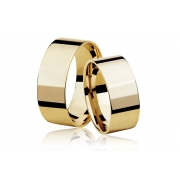 Aliança de Casamento Ouro 18k Reta (6mm)