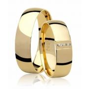 Aliança de Casamento Ouro Amarelo 18k Princess (5.50mm)