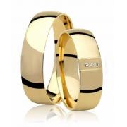 Aliança de Casamento Ouro Amarelo 18k Princess (5mm)