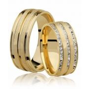 Aliança de Casamento Romance em Ouro 18k (7.6mm)