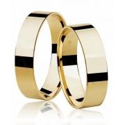 Aliança de Casamento Square Ouro 18k Anatômica (5mm)