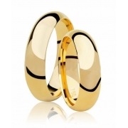 Aliança de Casamento Tradicional Confort em Ouro 18k (5.50mm)