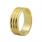 Aliança de Casamento True em Ouro 18k e Diamante  (7mm)