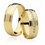 Alianças de Casamento Divine Ouro Amarelo 18k (6mm)