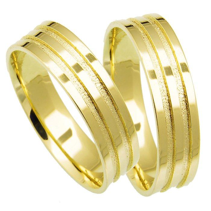 Aliança Casamento de Ouro 18k Anatômica Fillet (5.50mm)