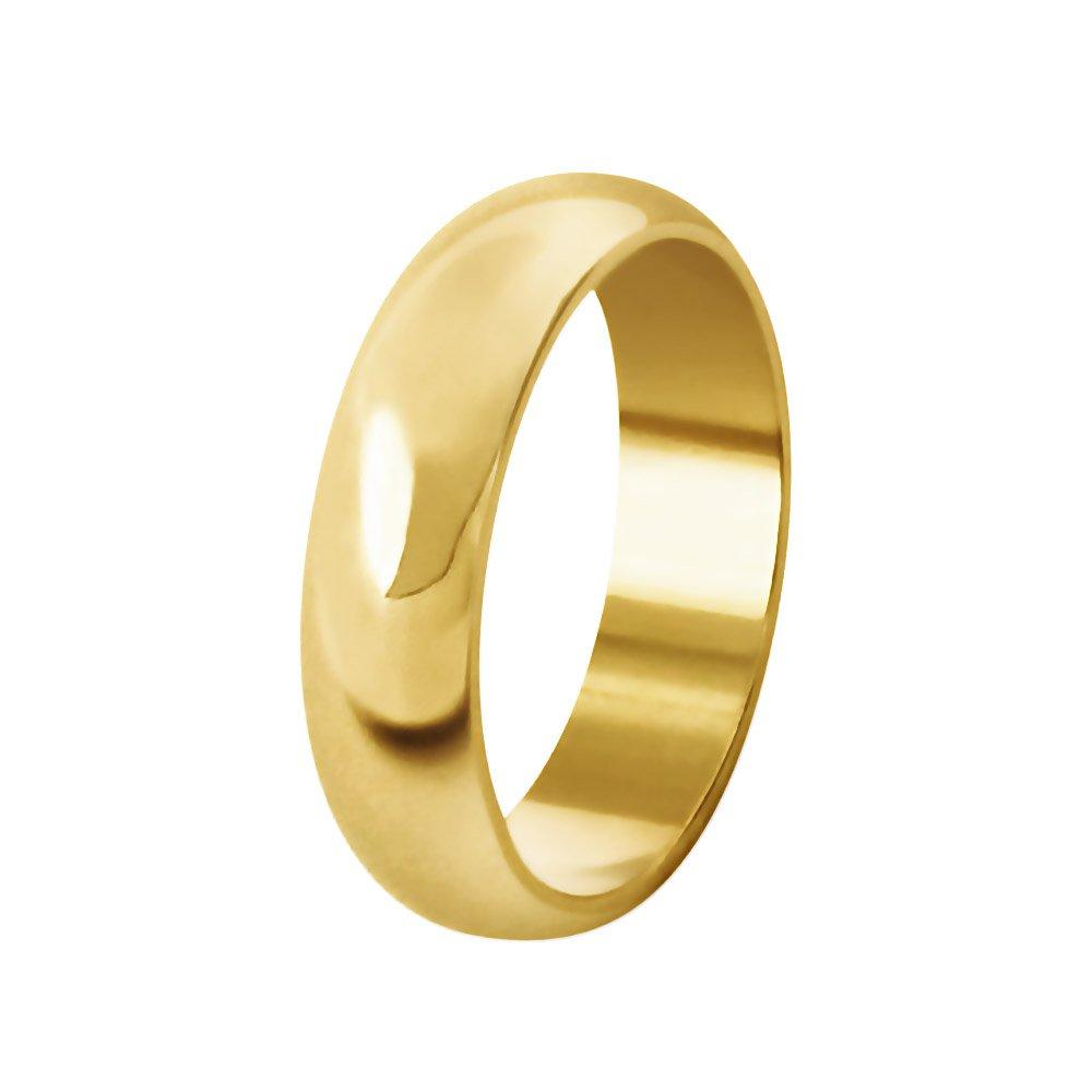 Aliança de Casamento Anatômica em Ouro 18k Abaulada (4.90mm)